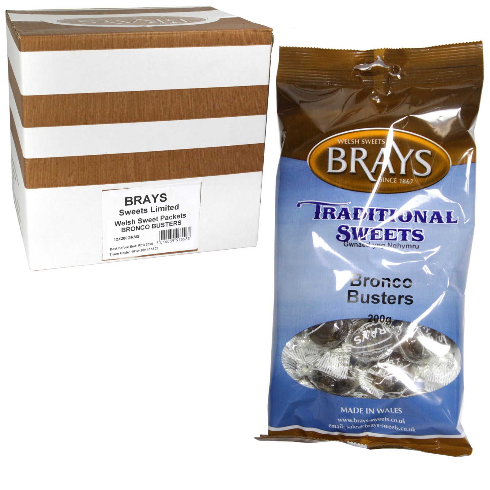 BRAYS 200GM BAG BRONCO BUSTERS X12