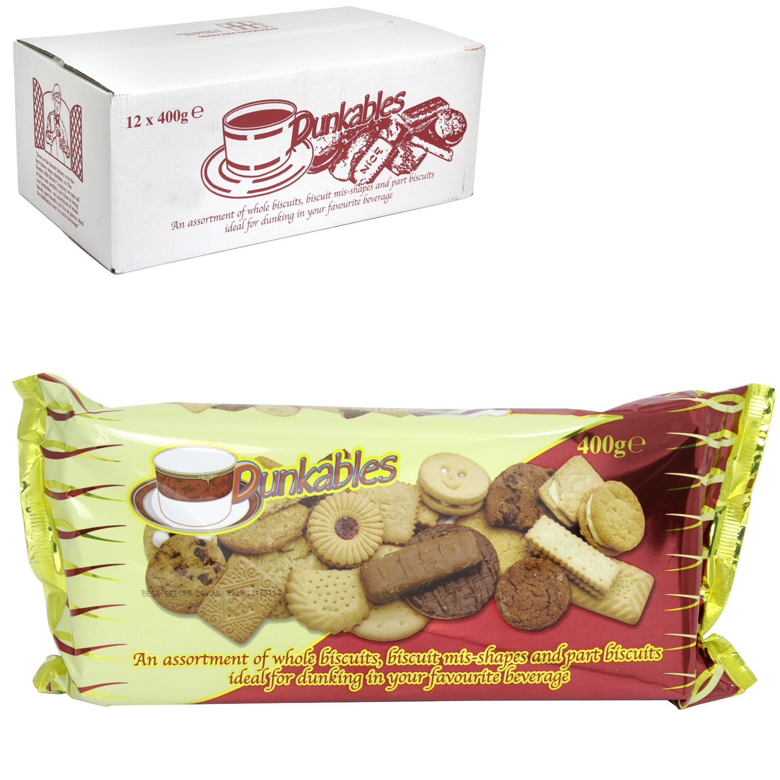 DUNKABLES ASSORTED BISCUITS 400GM X12