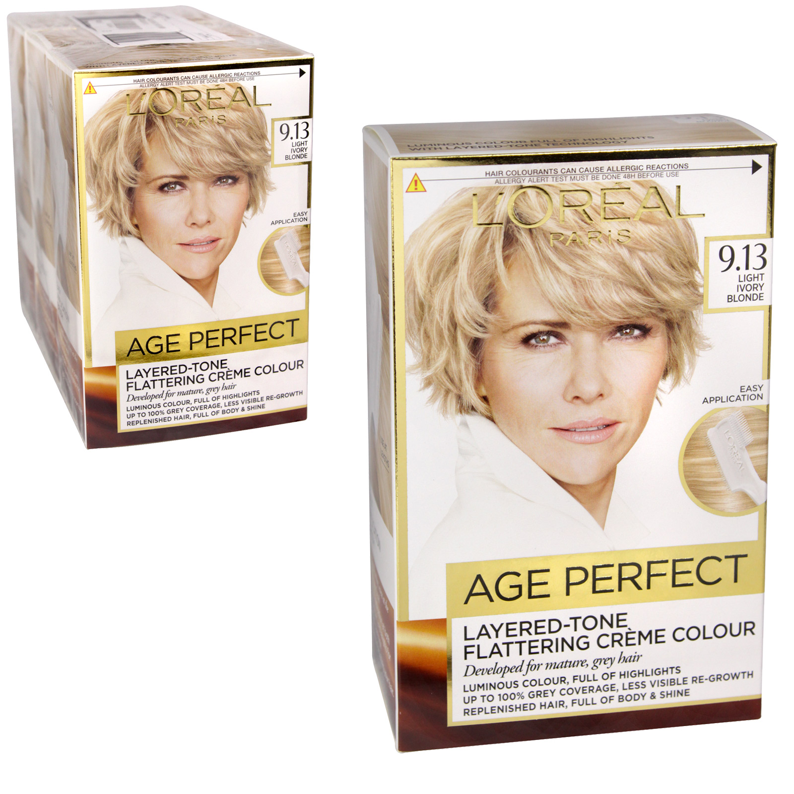 AGE PERFECT LIGHT IVORY BLONDE 9.13 X3