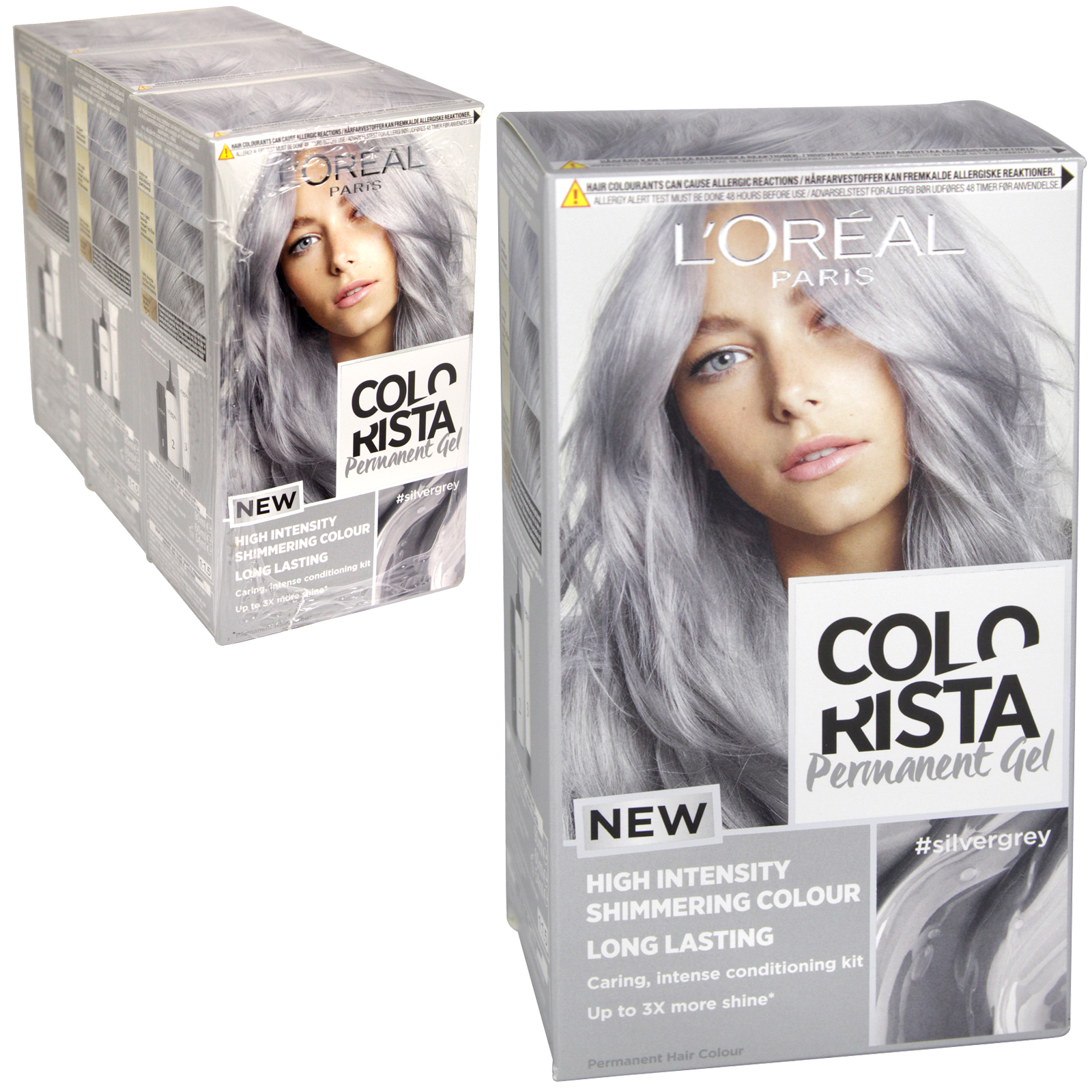 COLORISTA PERMANENT GEL SILVER (10.11) X 3