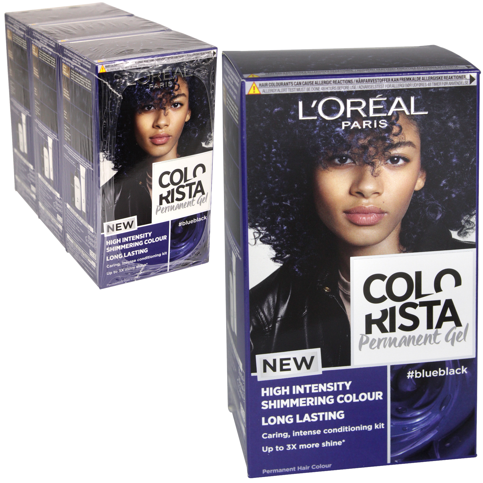 COLORISTA PERMANENT GEL BLUE BLACK 1.10 X3