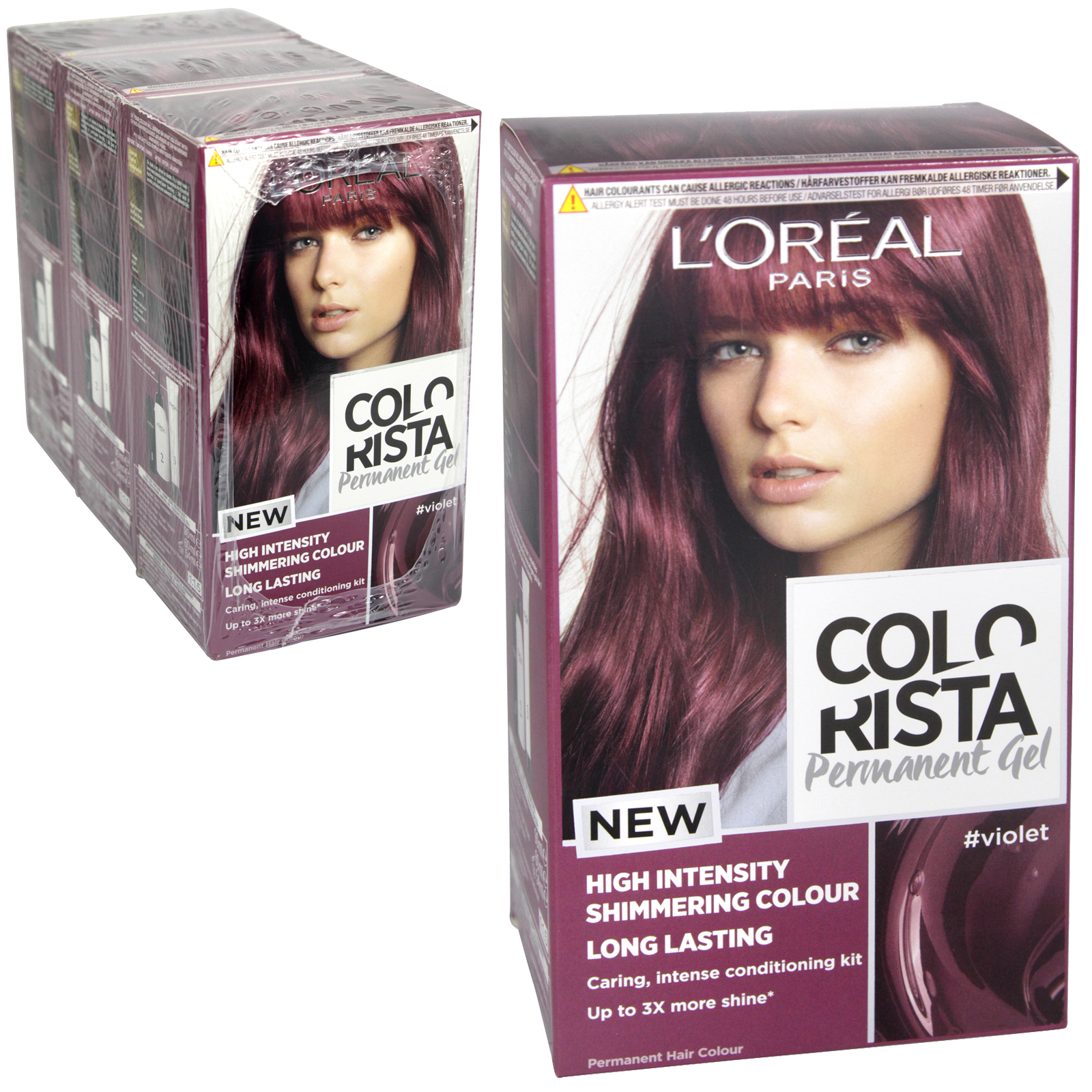 COLORISTA PERMANENT GEL VIOLET 5.26 X3