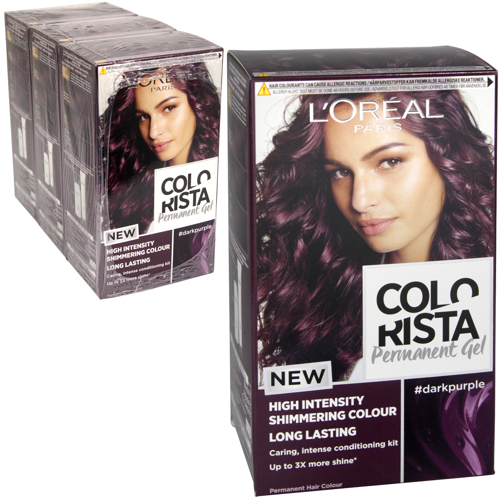 COLORISTA PERMANENT GEL DARK PURPLE 3.16 X3
