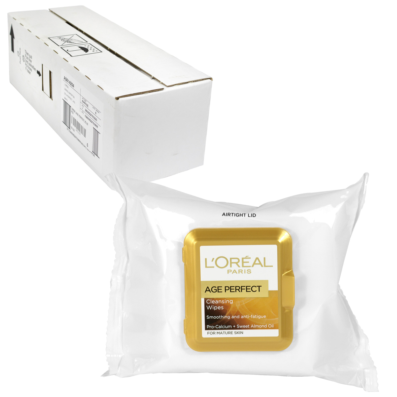 LOREAL AGE PERFECT 25 CLEANSING WIPES X6