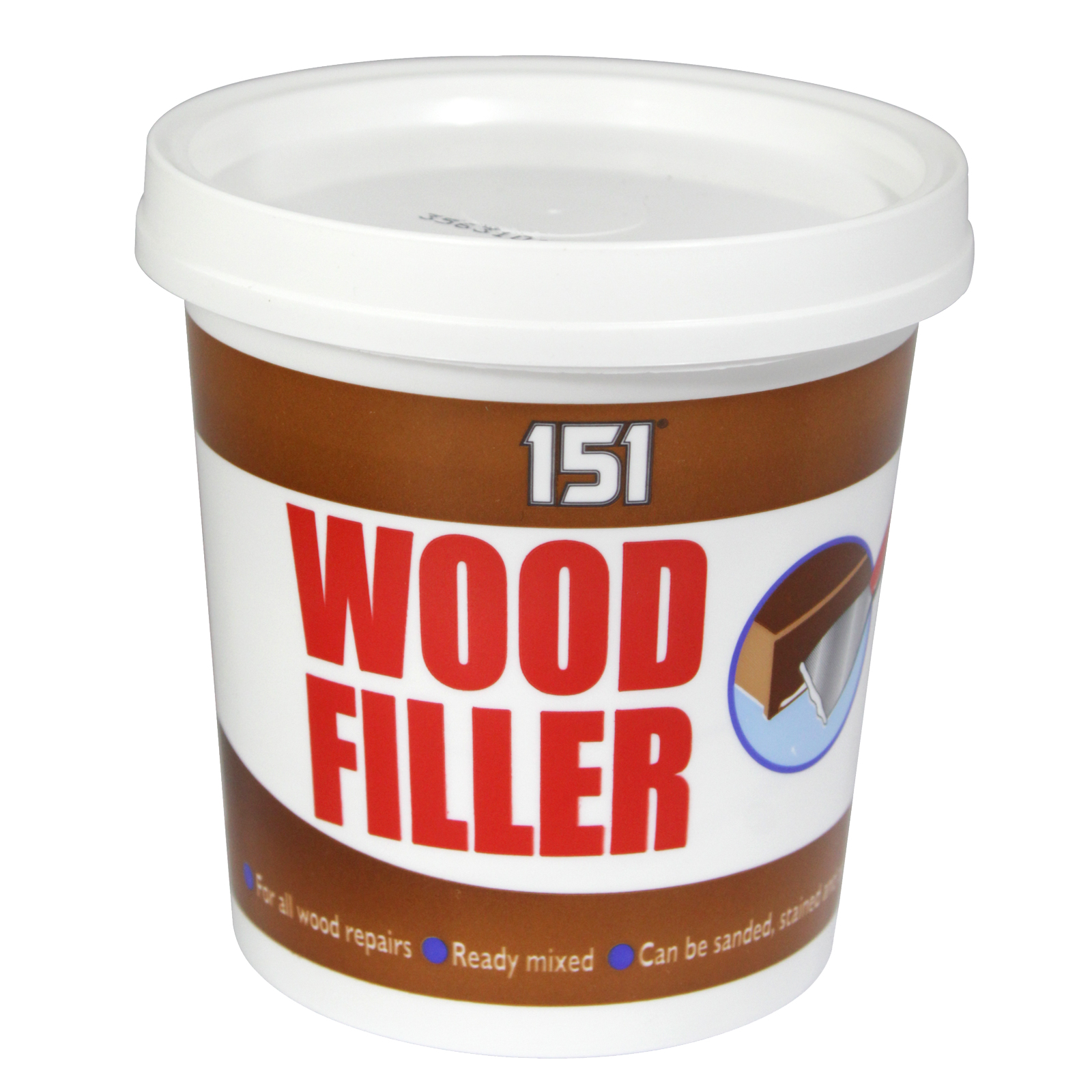 151 ALL PURPOSE WOOD FILLER 600G TUB