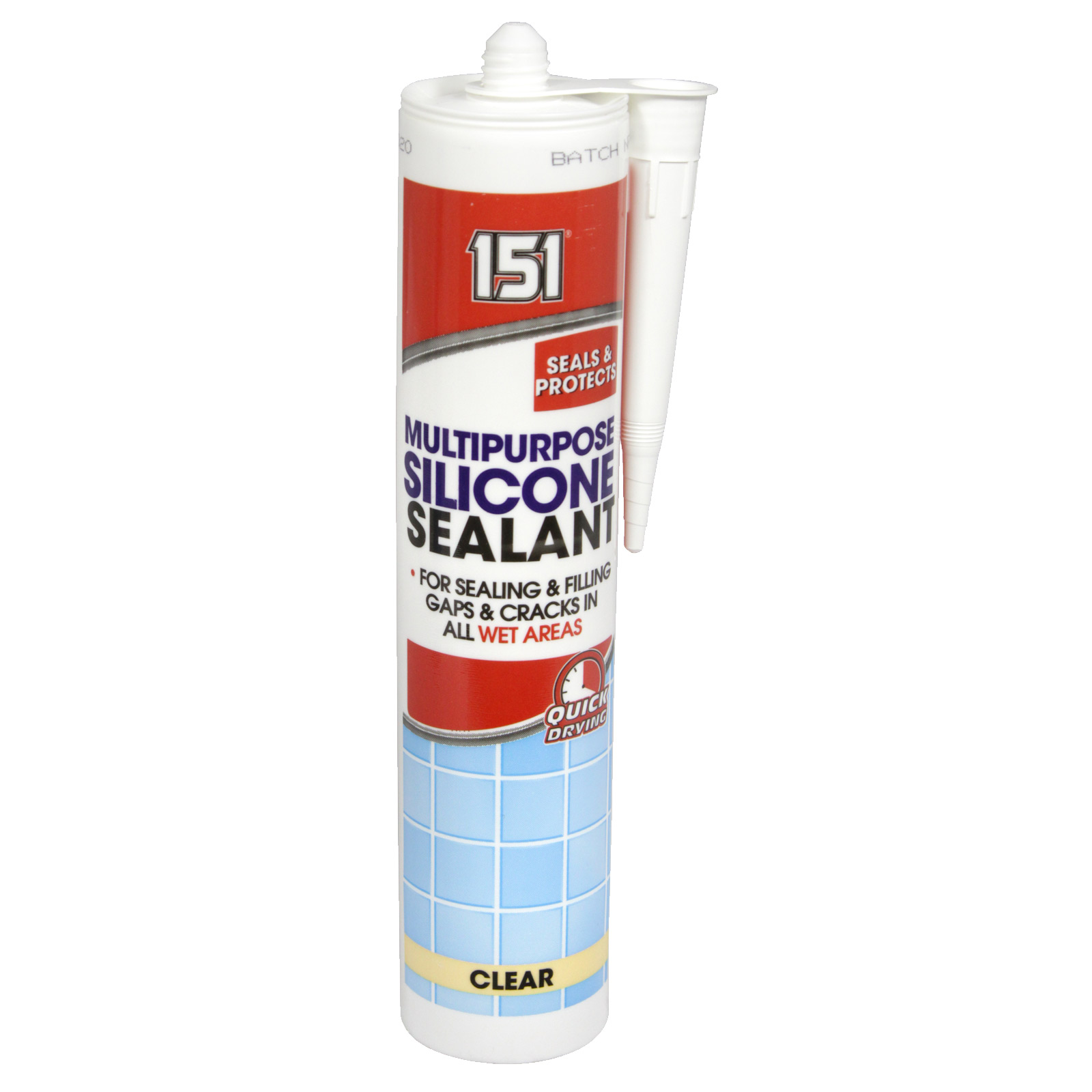 151 MULTI PURPOSE SILICONE SEALANT 280ML CARTRIDGE CLEAR