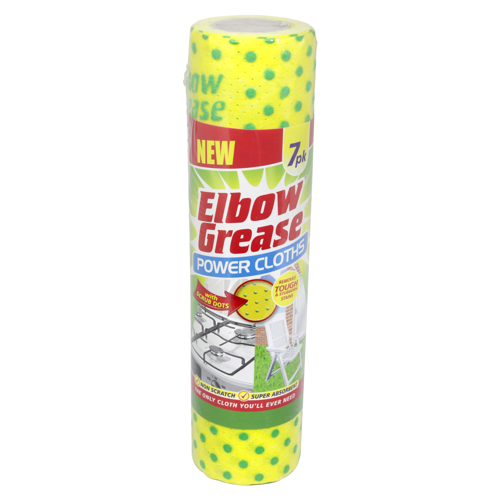 151 ELBOW GREASE 7 POWER CLOTHS STD SIZE