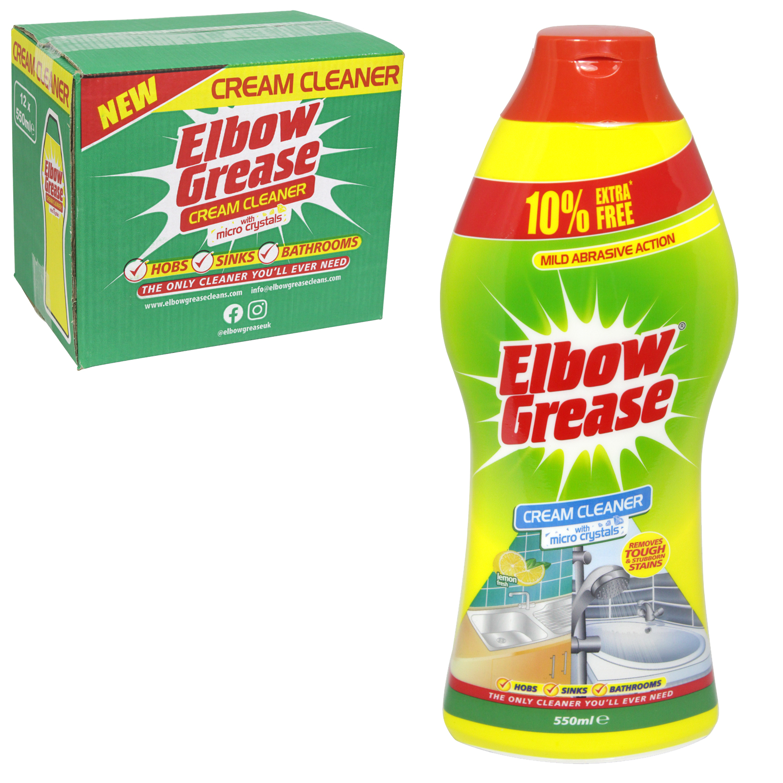 151 ELBOW GREASE 550ML CREAM CLEANER WITH MICRO CRYSTALS X12