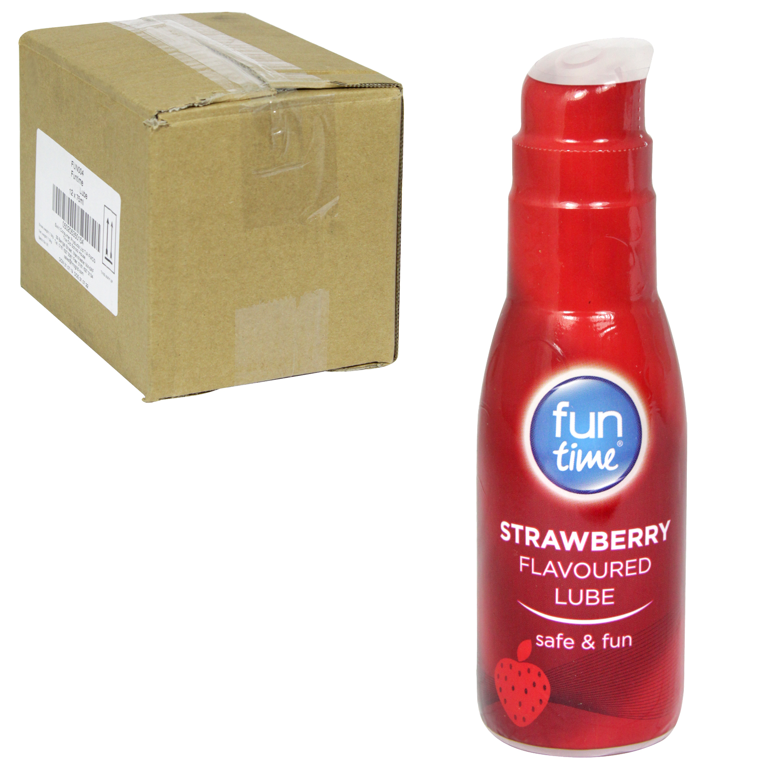 FUN TIME LUBRICANT 75ML STRAWBERRY FLAVOURED X12