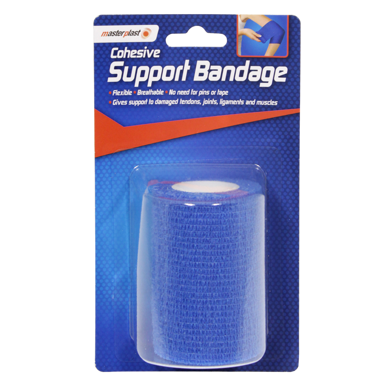 MASTERPLAST COHESIVE SUPPORT BANDAGE 7CM X 4M