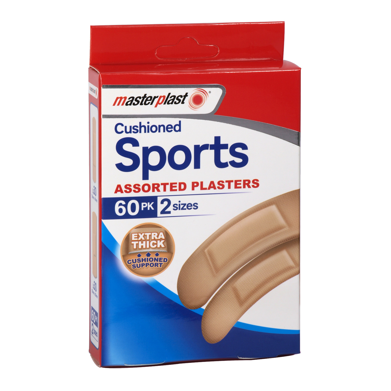 MASTERPLAST 60 CUSHIONED SPORTS PLASTERS X12