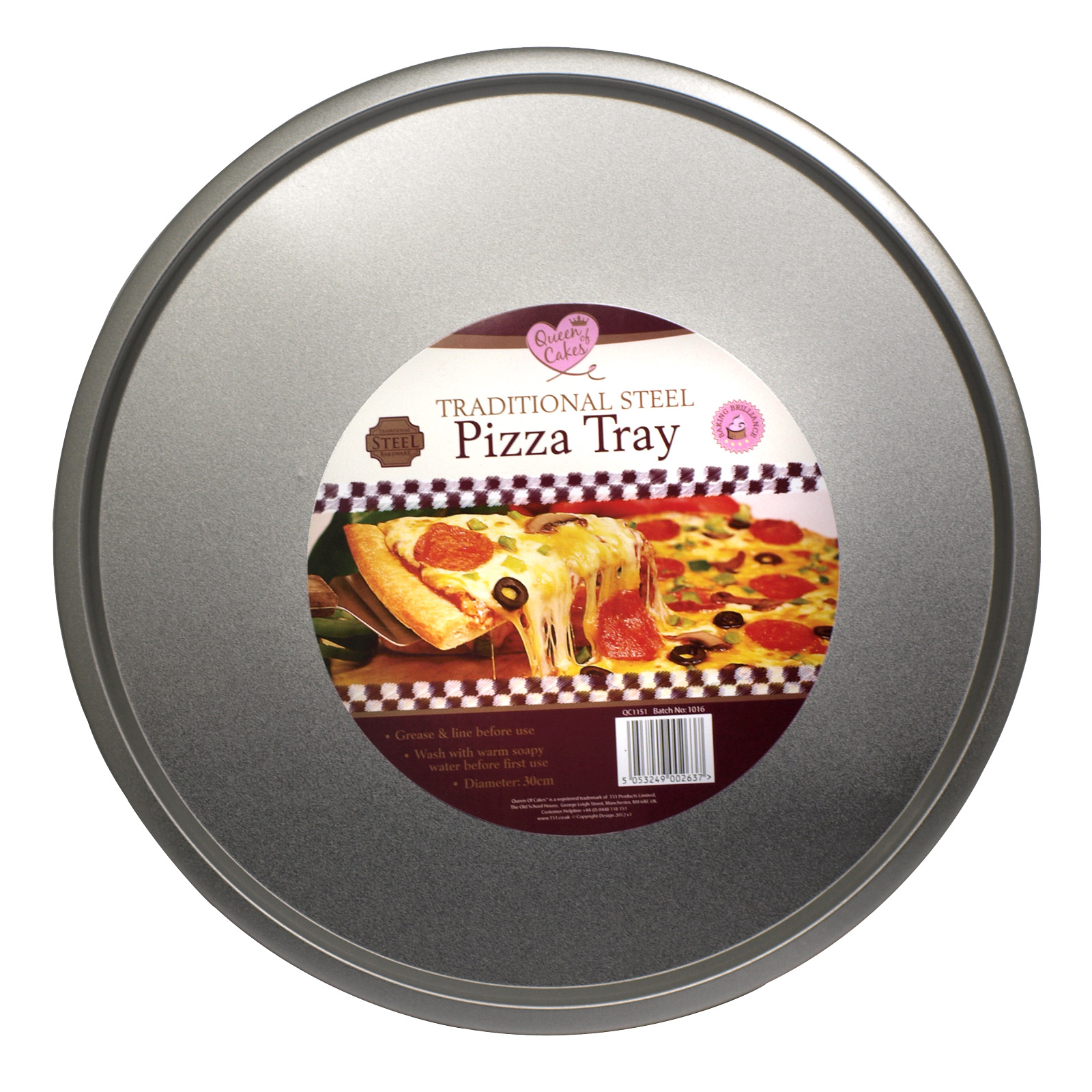 151 STEEL PIZZA TRAY 30CM