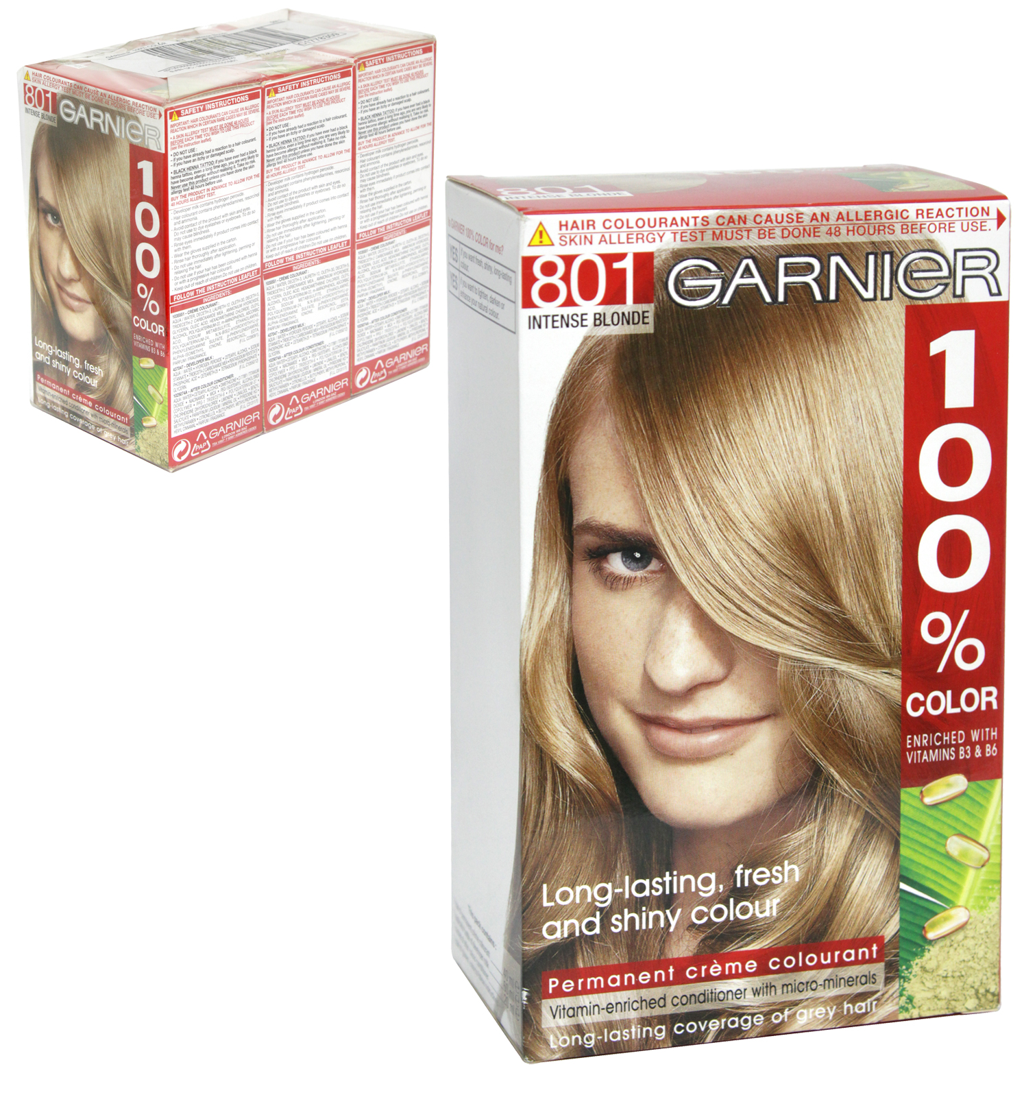 100% COLOR 801 INTENSE BLONDE X3