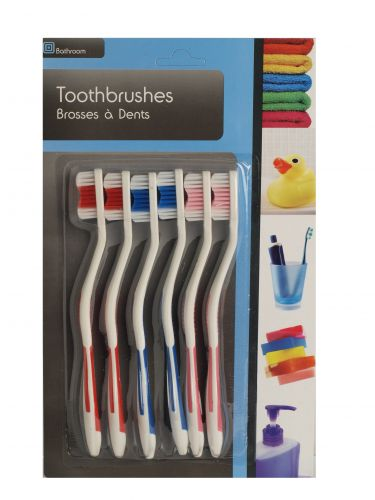 SIL TOOTHBRUSHES 6PK X12