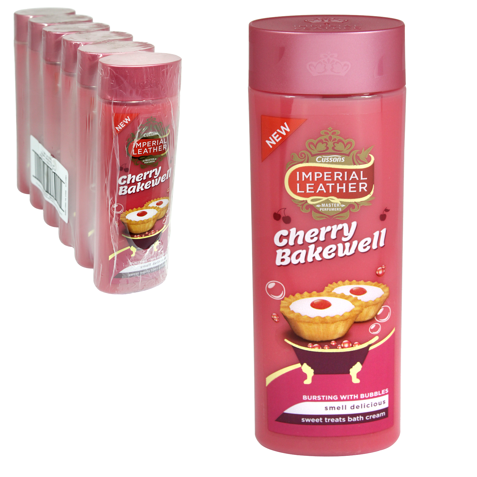 IMPERIAL LEATHER CREME BATH 500ML CHERRY BAKEWELL X6