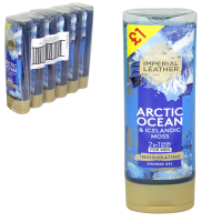 IMPERIAL LEATHER SHOWER 250ML ARCTIC OCEAN PM£1 X6