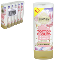 IMPERIAL LEATHER SHOWER 250ML COTTON CLOUDS PM£1  X6