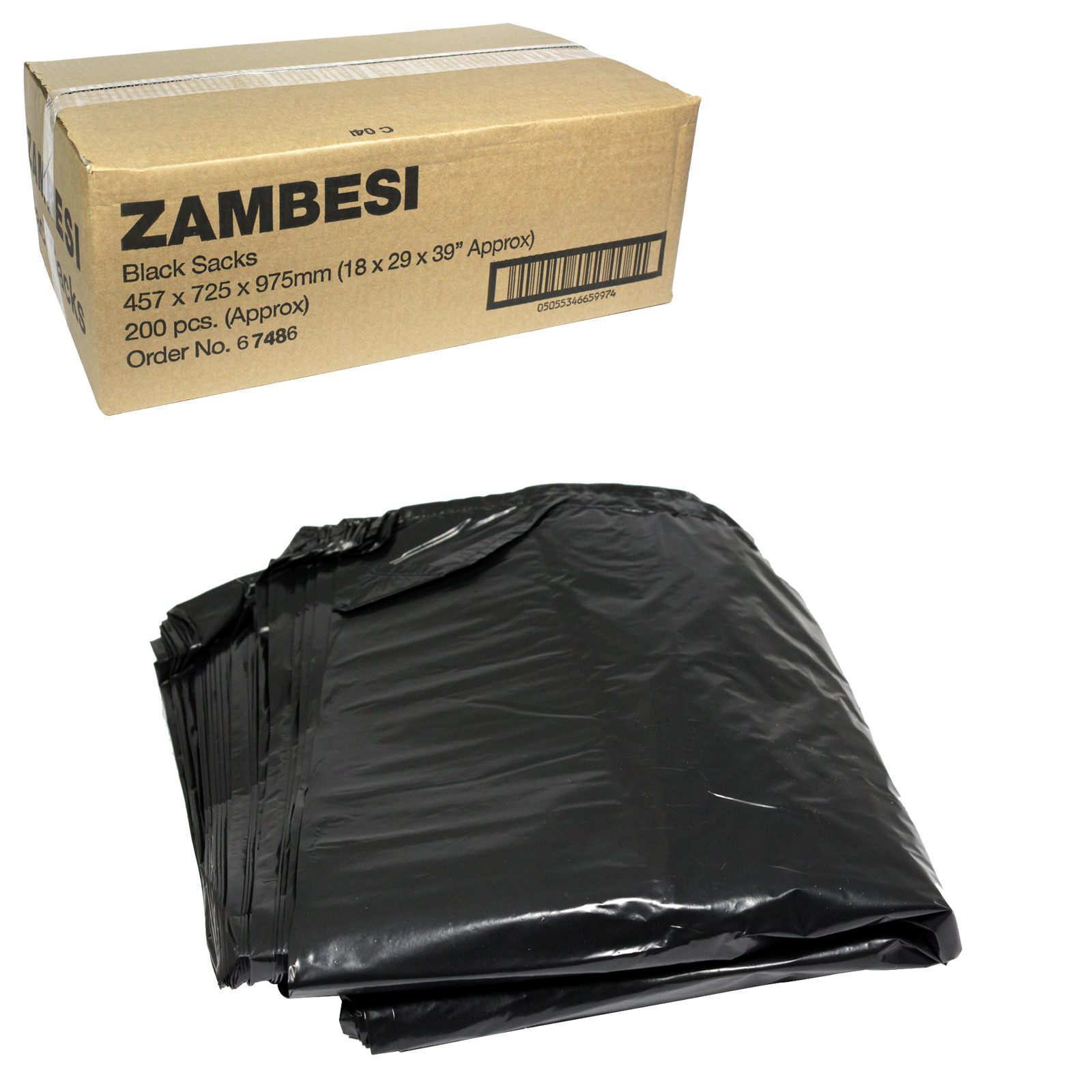 ZAMBESI BLACK SACKS EXTRA HEAVY DUTY 18