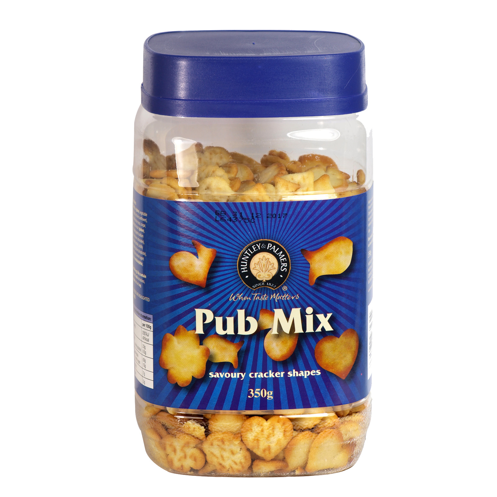 HUNTLEY & PALMER PUB MIX 350GM JAR X12