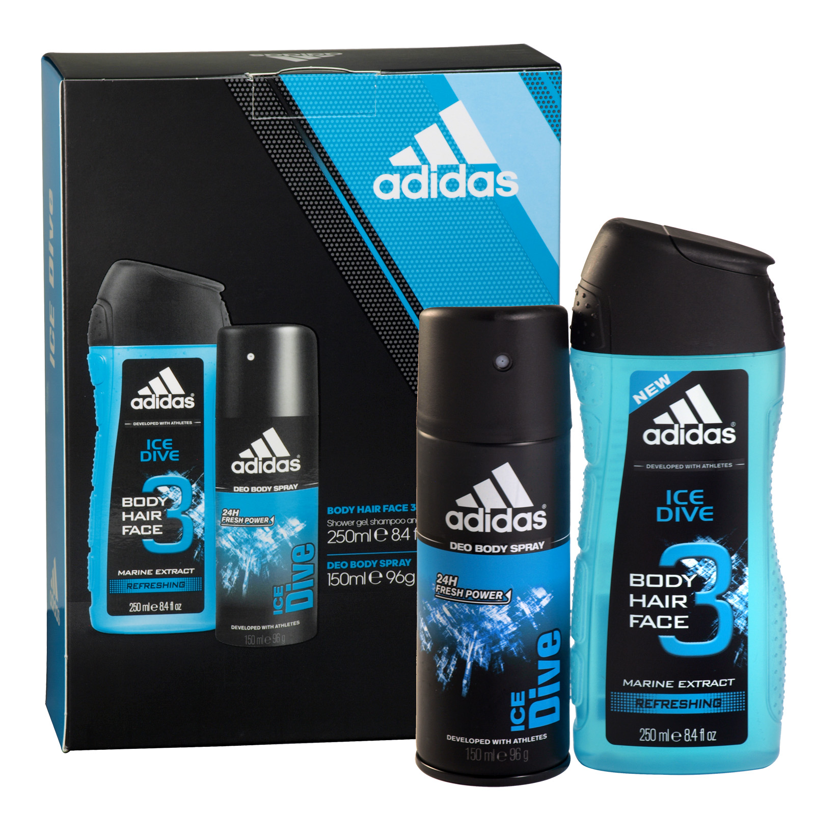 Concord Cash And Carry Adidas Body Hair Face Guaiac Wood Pure Game 250ml 150ml Spray All Over Shower Gel Ice Dive