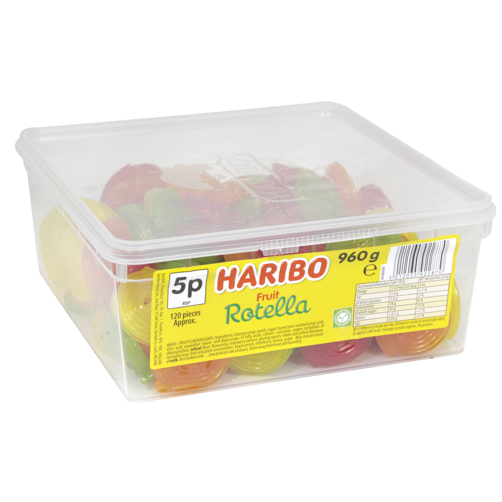 HARIBO ROTELLA DRUM 960G APPROX 120 PIECES