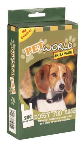 PETWORLD DOGGY POO BAGS 200'S