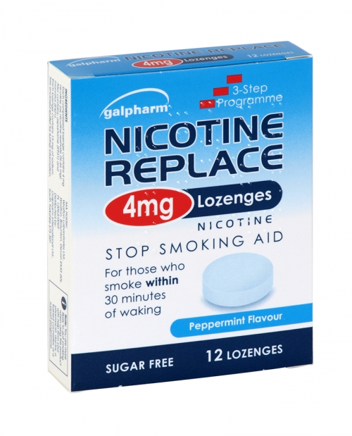 GALPHARM NICOTINE REPLACEMENT LOZENGES 12X4MG LOZ X10 (NON RETURNABLE)