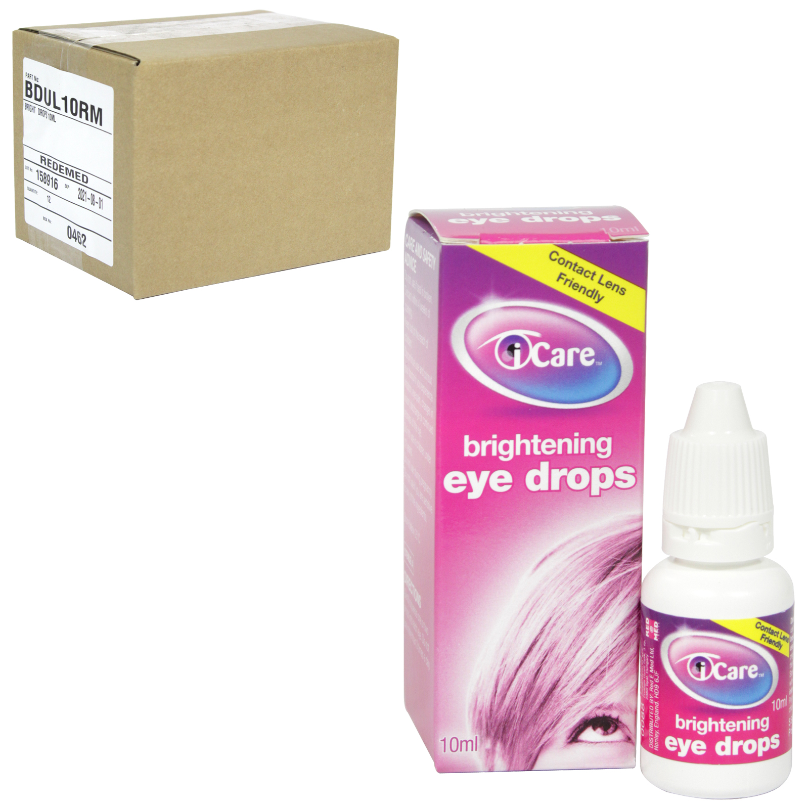 I-CARE EYE DROPS 10ML BRIGHTENING X12 (NON RETURNABLE)