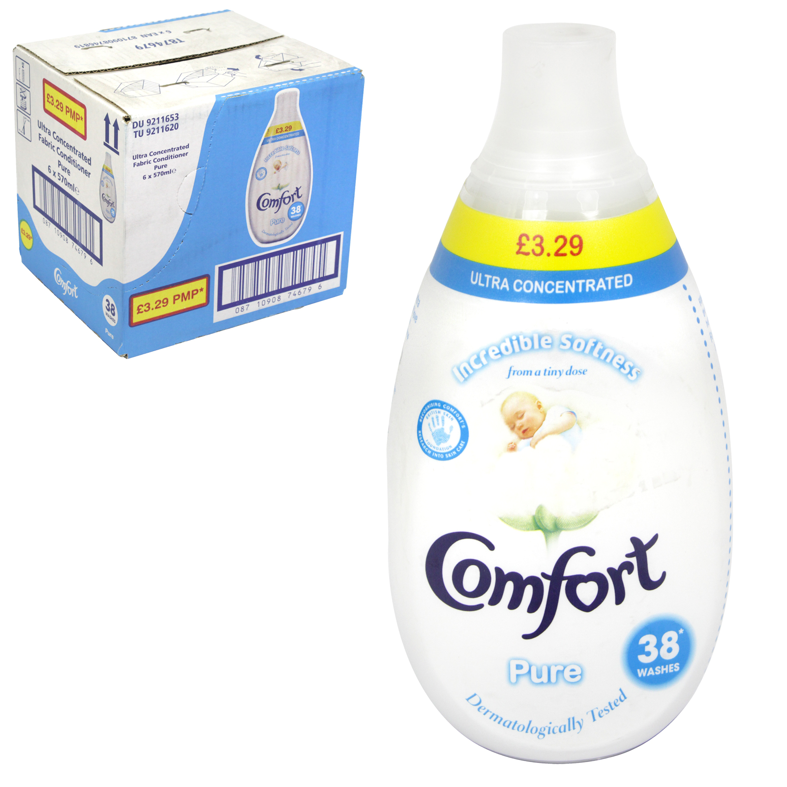 COMFORT INTENSE ULTRA CONCENTRATE 38 WASH PURE PM £3.29 X6