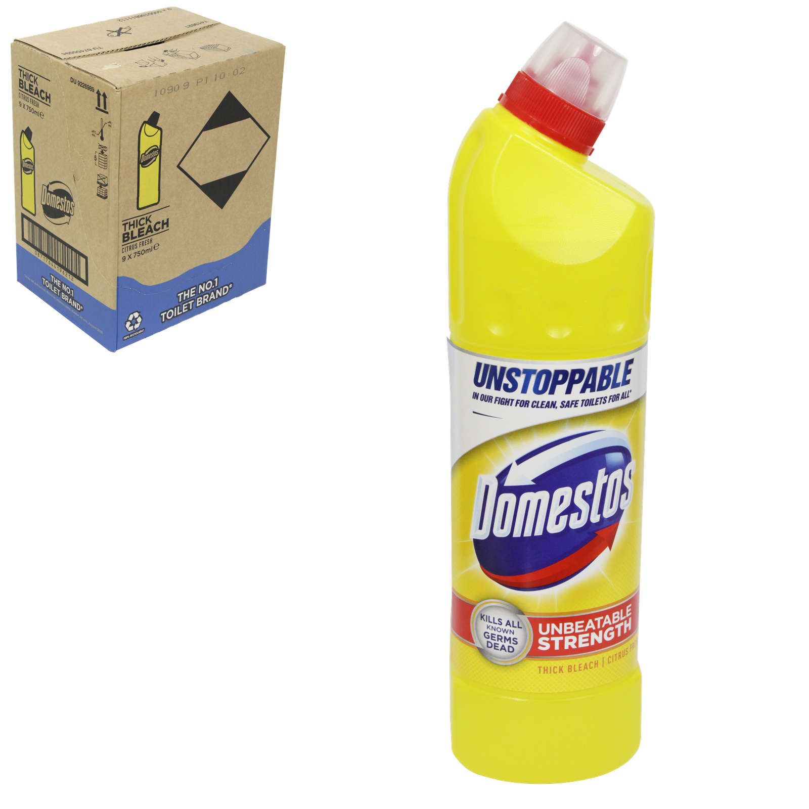 DOMESTOS EXT GERM-KILL THICK BLEACH 750ML CITRUS X9