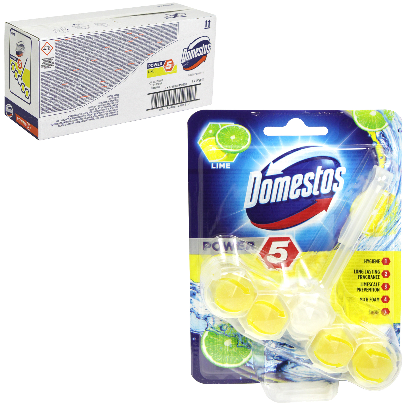 DOMESTOS POWER 5 RIMBLOCK 55GM LIME X9