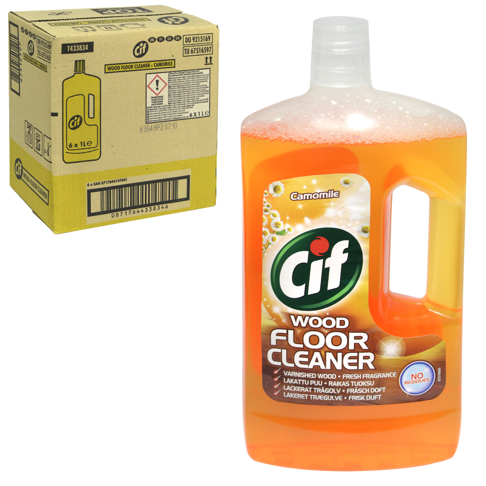 CIF FLOOR CLEANER 1L WOOD WITH CAMOMILE X6