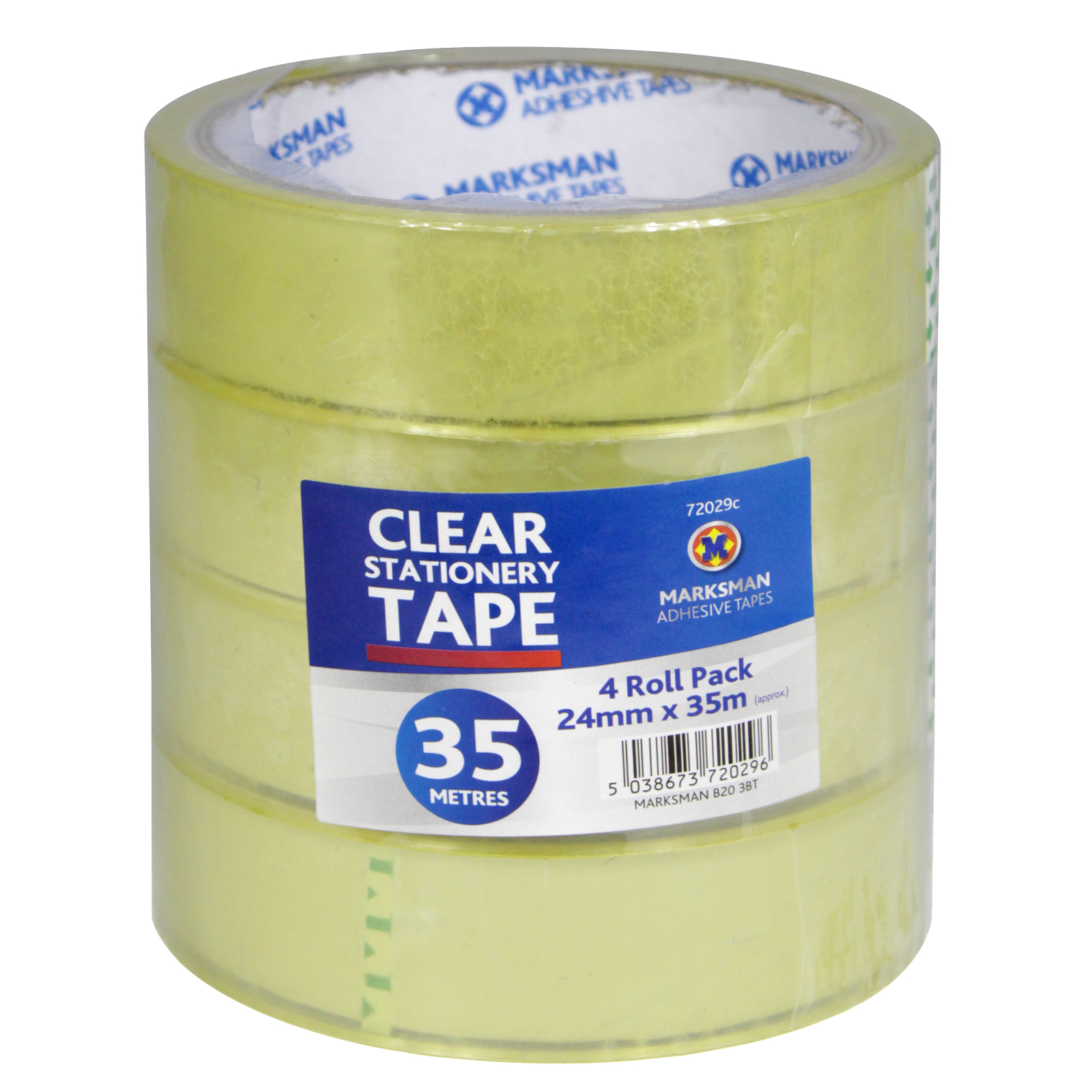CLEAR STATIONERY TAPE 4X24MMX35M