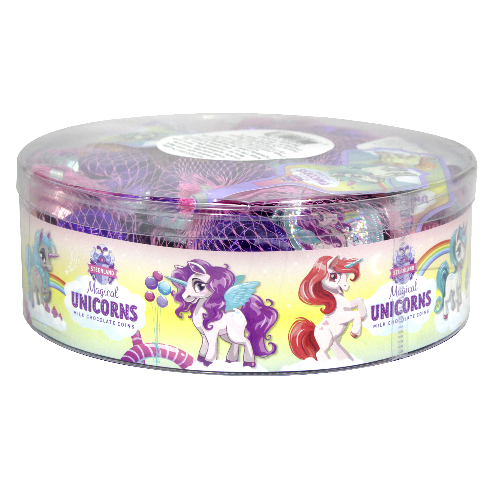 UNICORNS MILK CHOCOLATE COINS 75GM X 12 NETS