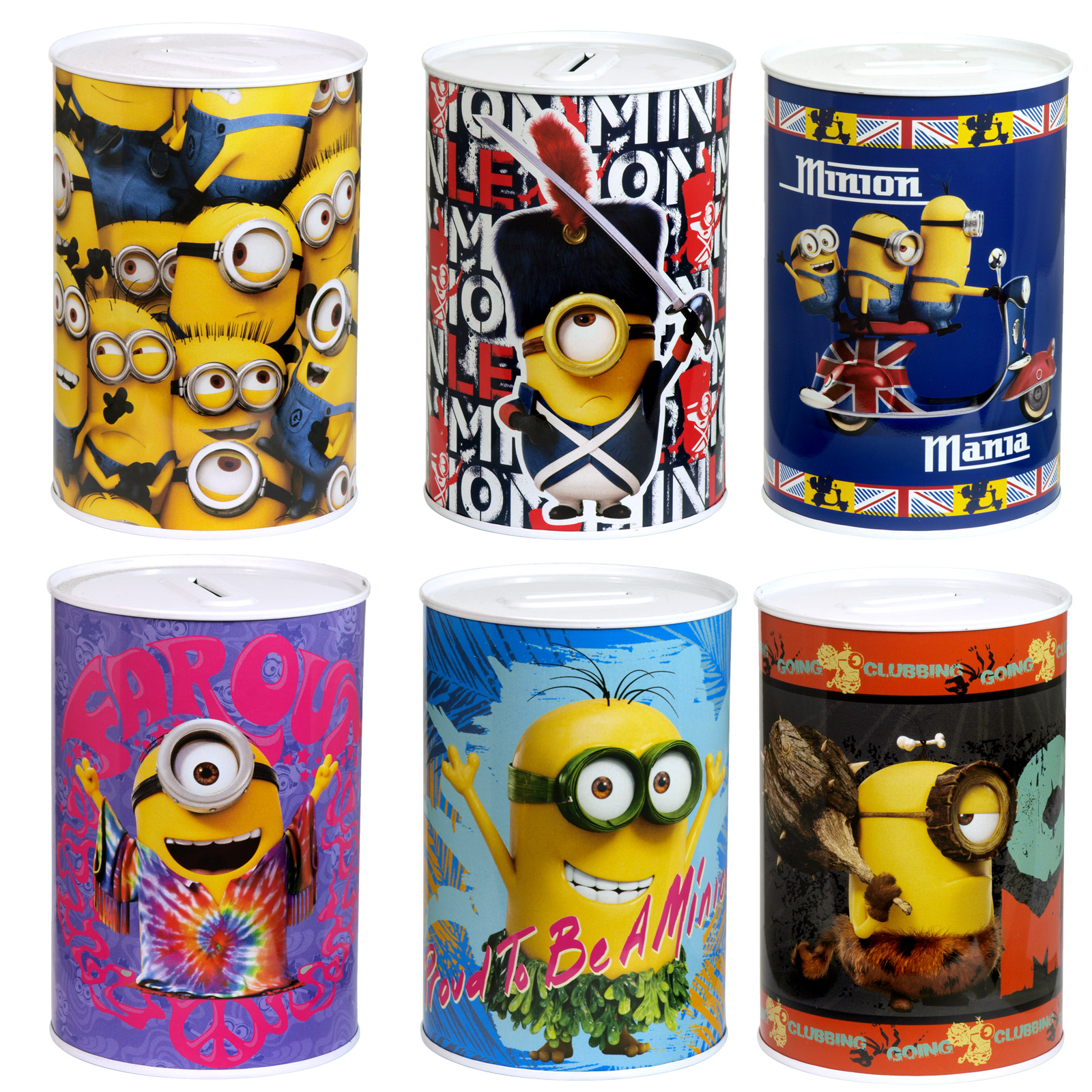 MONEY TIN 100X150MM MINIONS