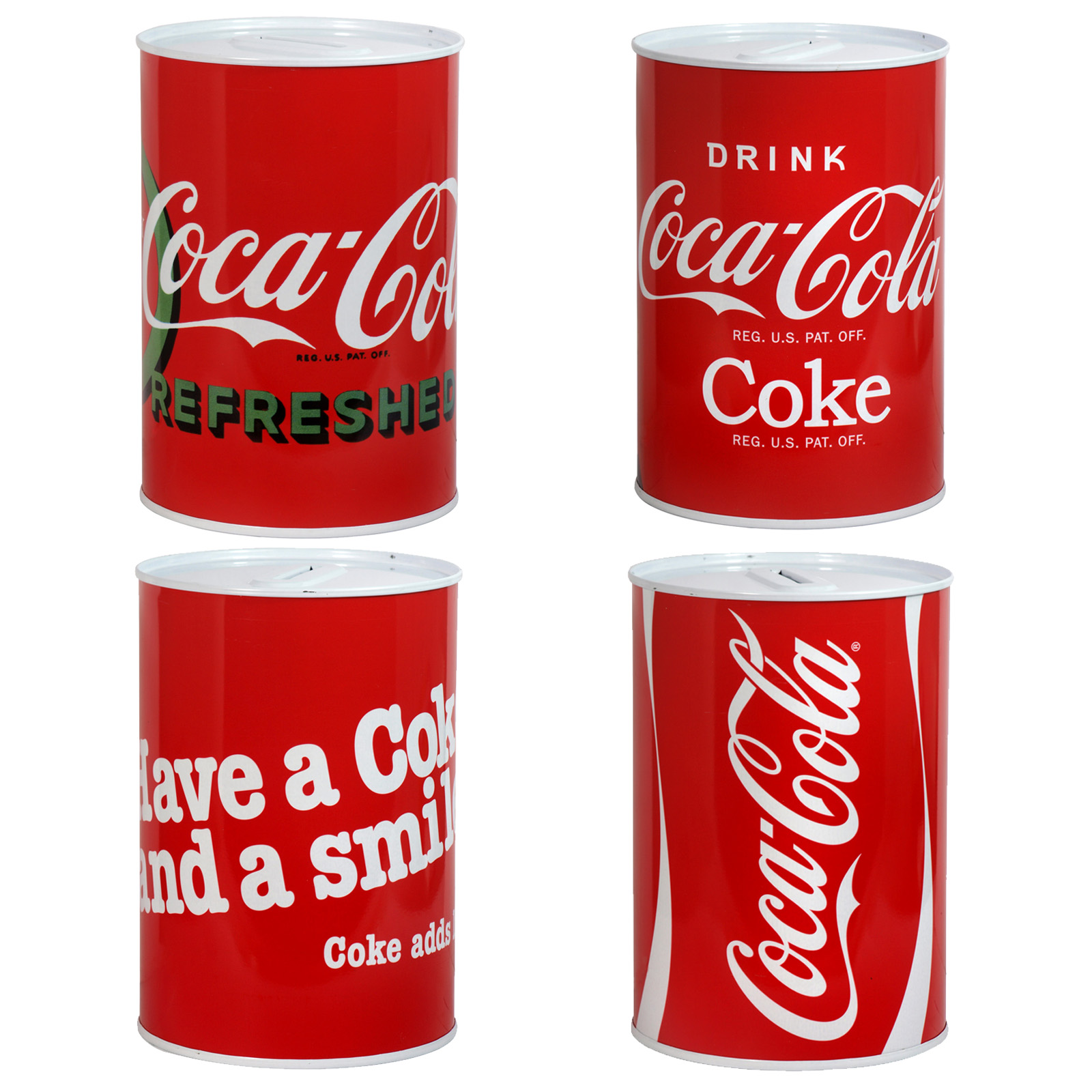 MONEY TIN 100X150MM COCA-COLA