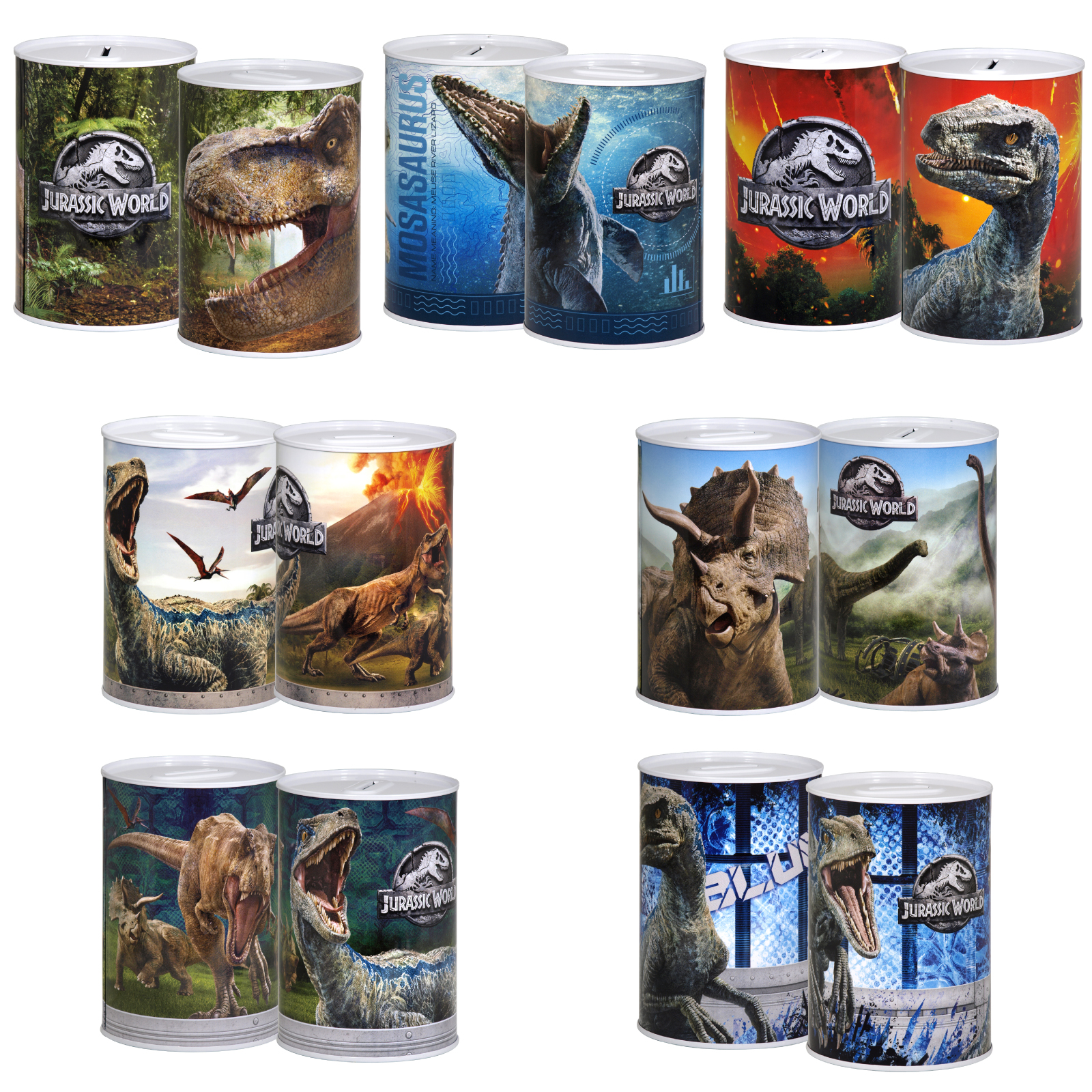 MONEY TIN 100X150MM JURASSIC WORLD