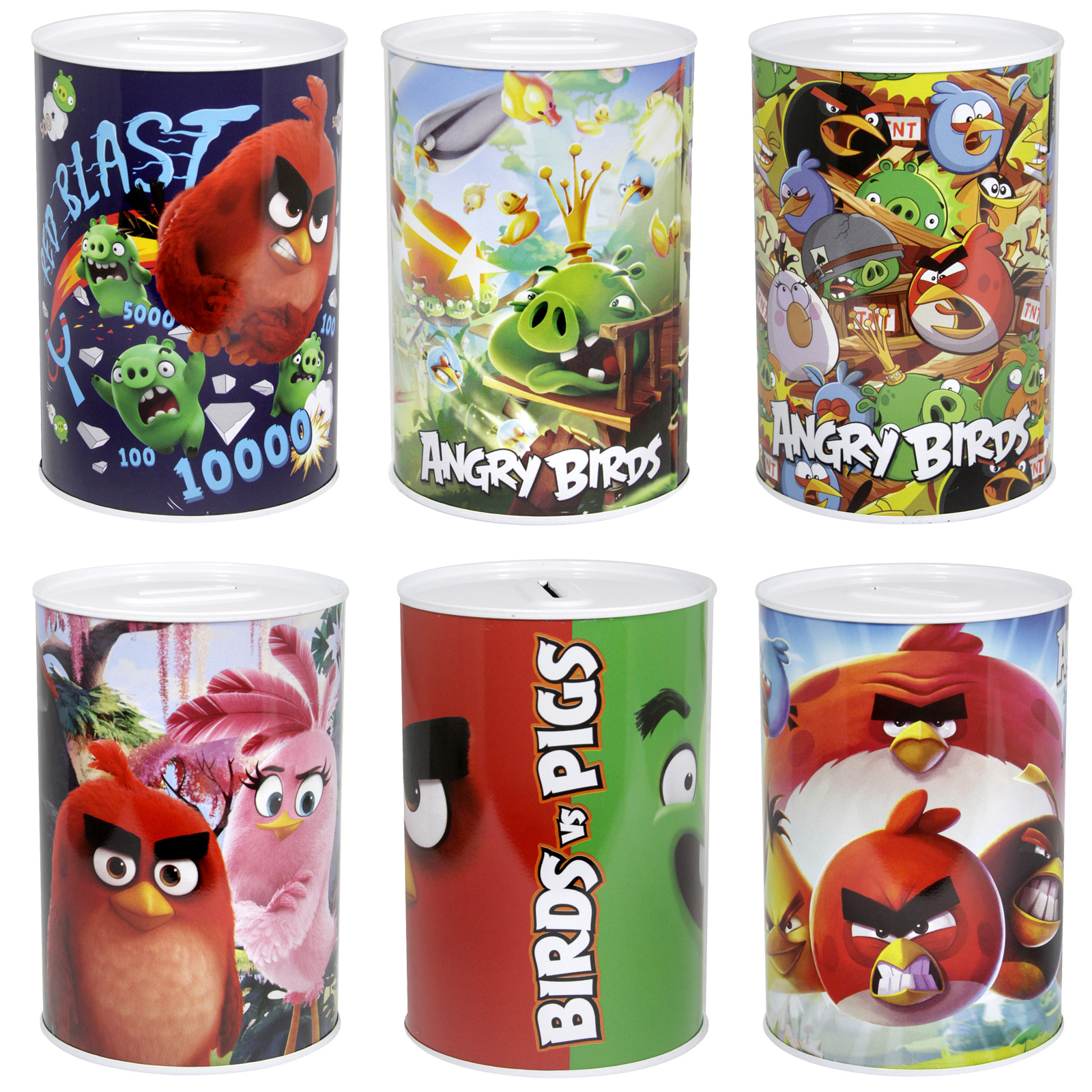 MONEY TIN 100X150MM ANGRY BIRDS