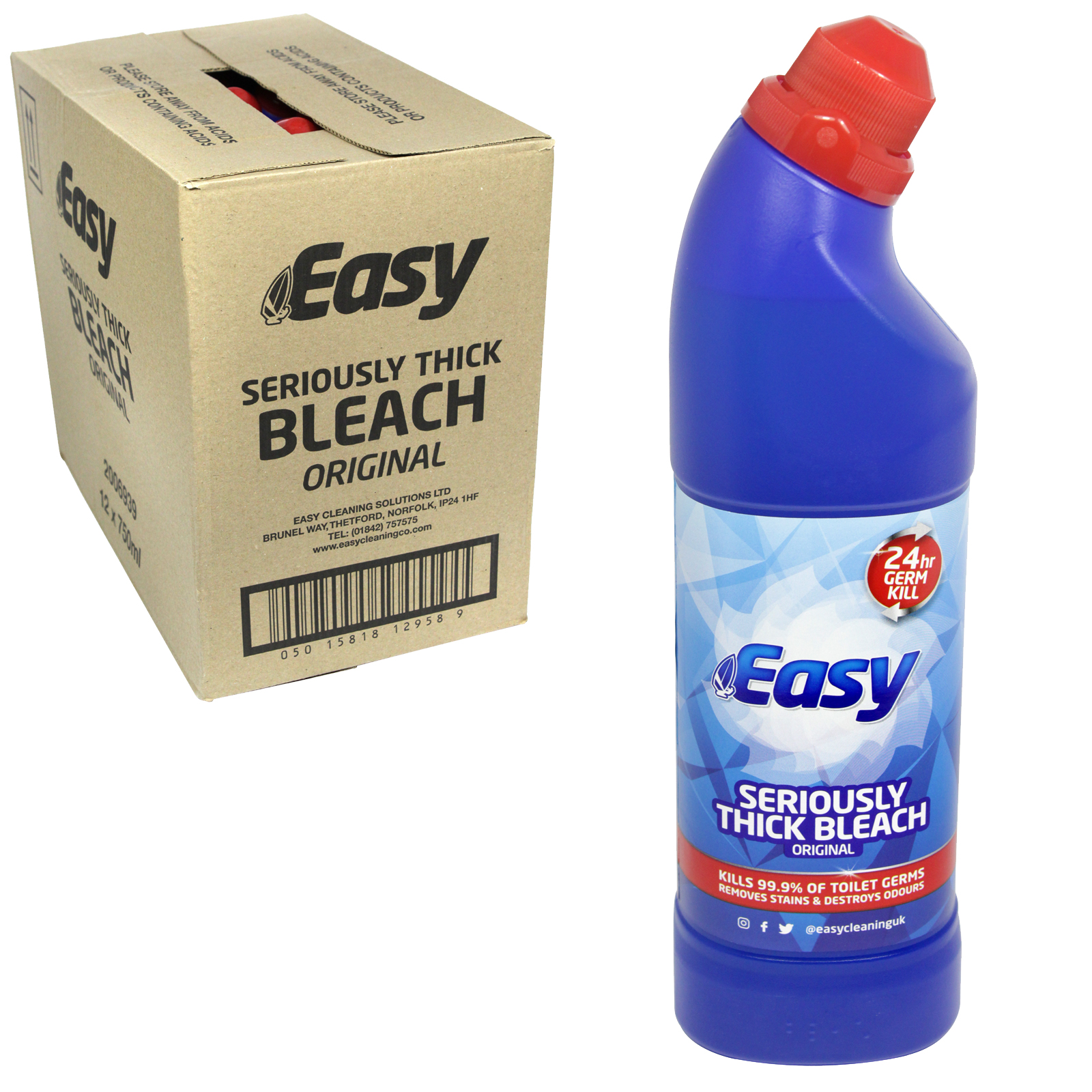 EASY BLEACH 750ML ORIGINAL X12