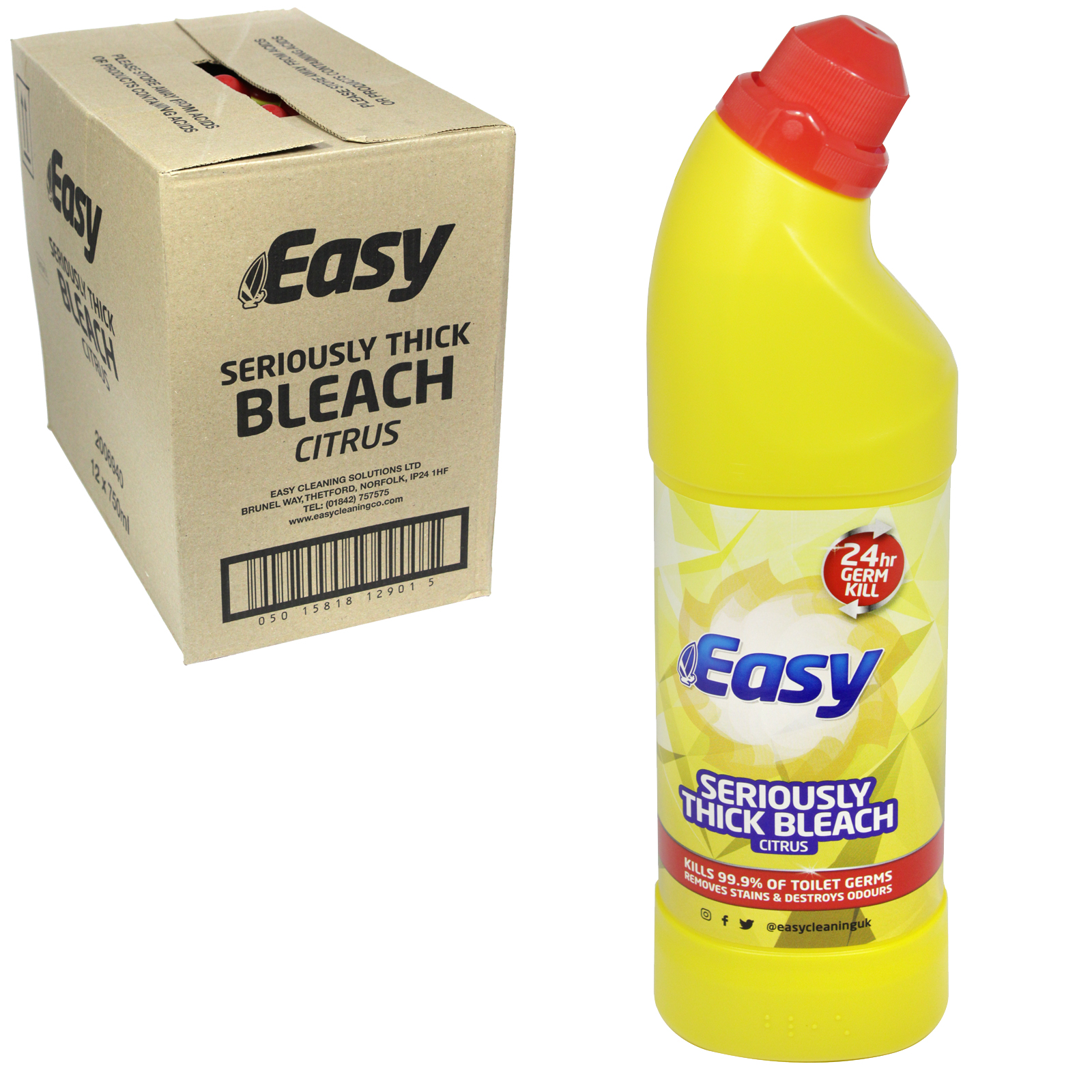 EASY BLEACH 750ML CITRUS X12