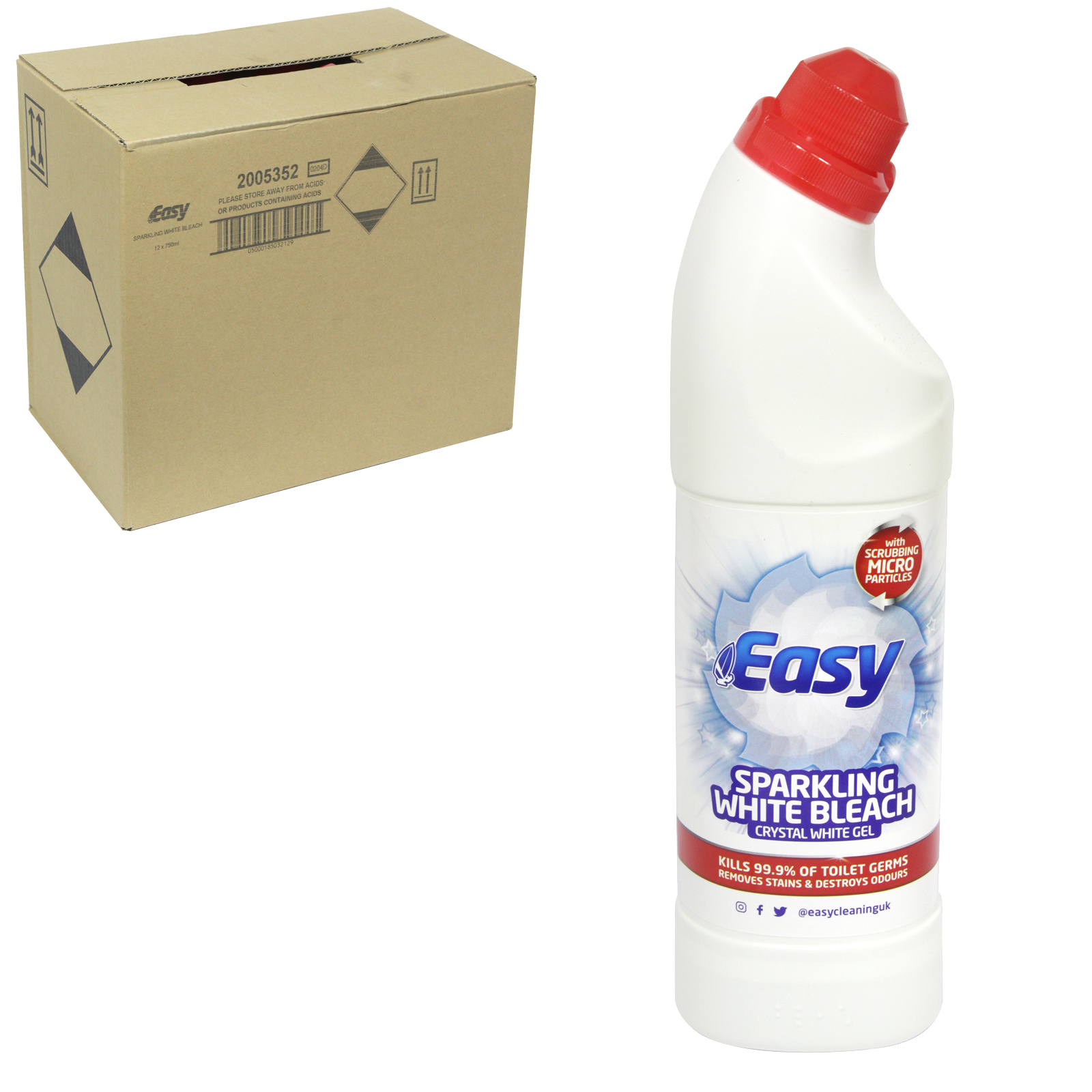 EASY BLEACH 750ML SPARKLING CRYSTAL WHITE GEL X12