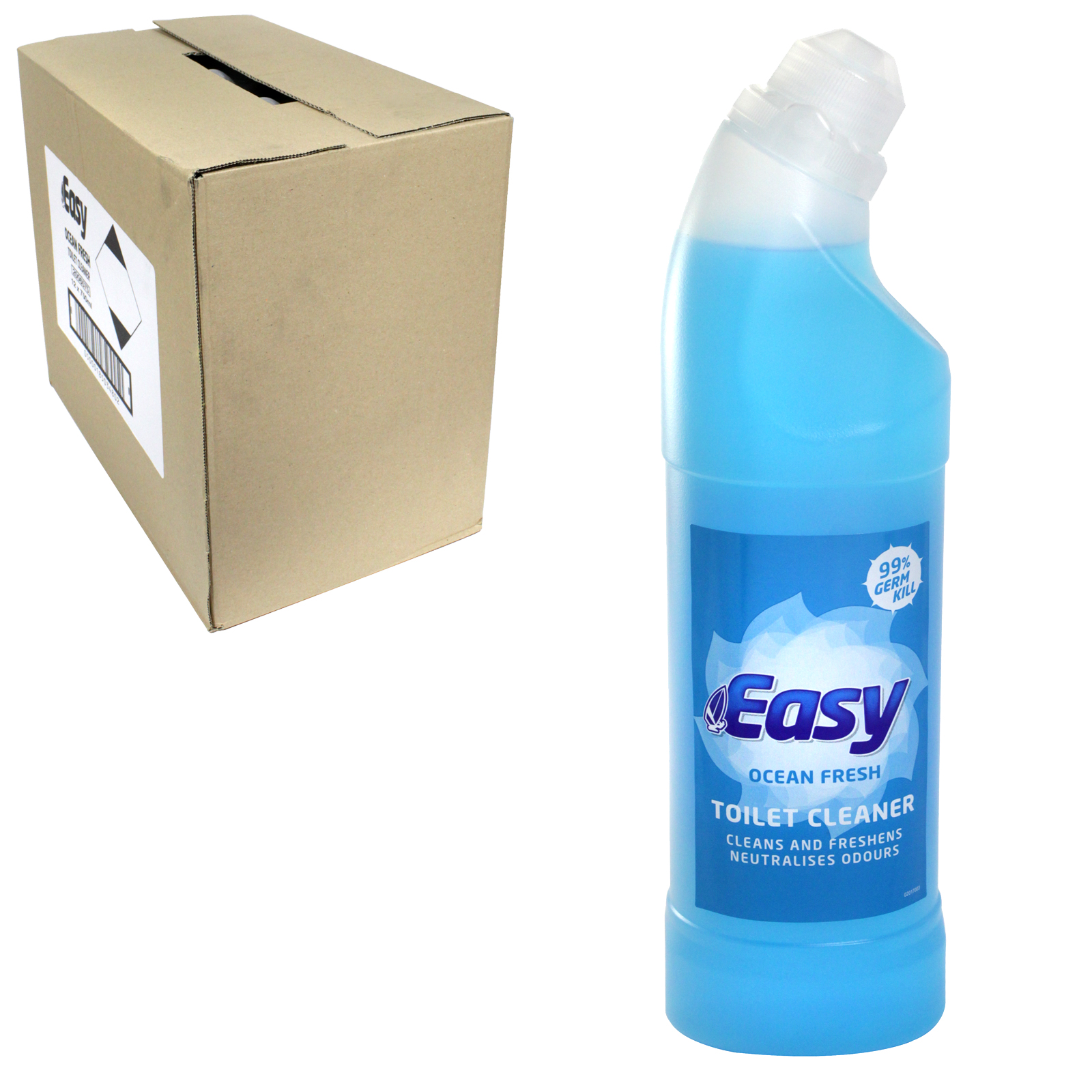 EASY TOILET CLEANER 750ML OCEAN X12