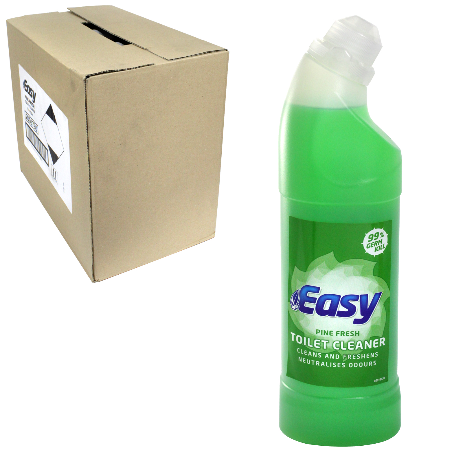 EASY TOILET CLEANER 750ML PINE X12