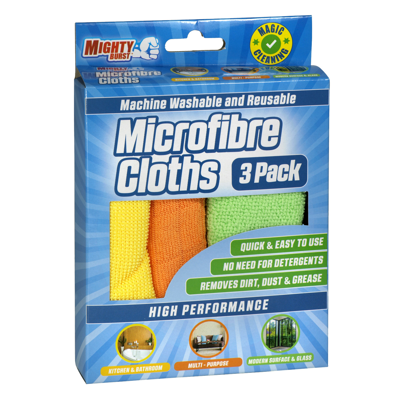 AIRPURE MICROFIBRE CLOTHS 3PK X12
