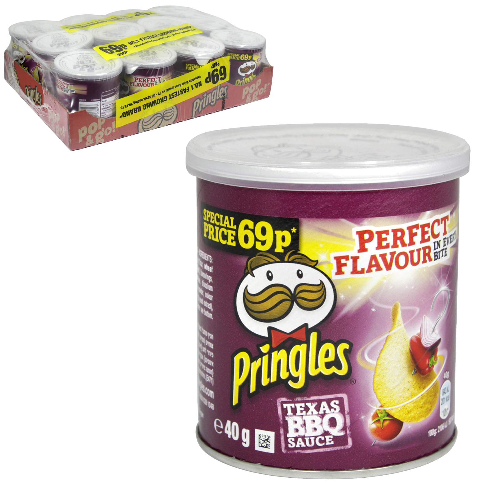 PRINGLES 40GM TEXAS BBQ PM69P X12