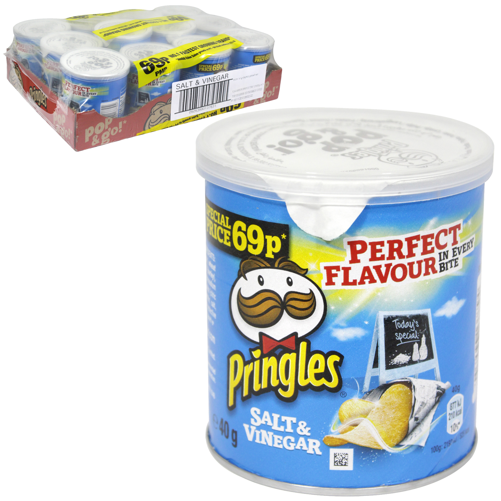 PRINGLES 40GM SALT & VINEGAR PM 69P X12