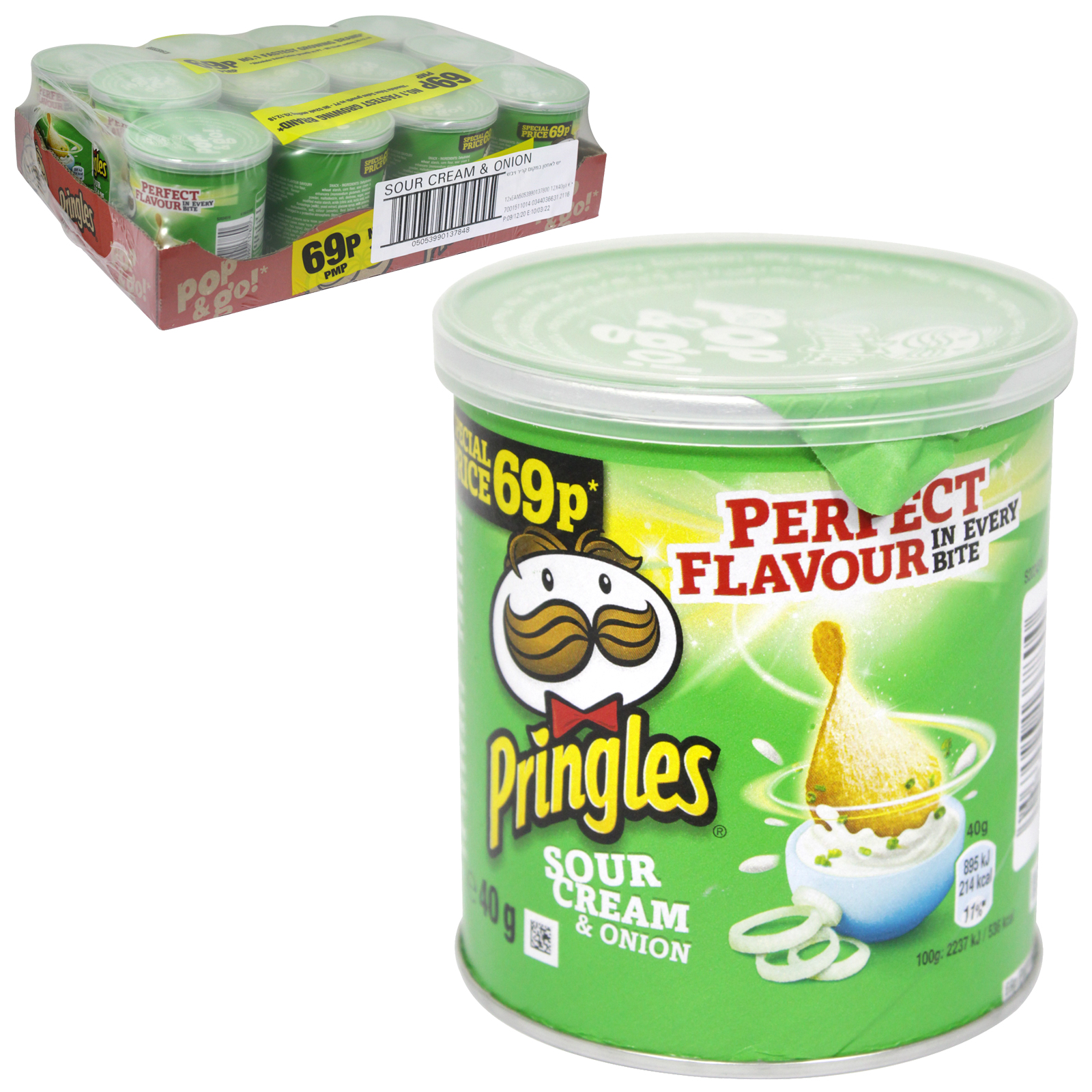 PRINGLES 40GM SOUR CREAM & ONION PM 69P X12