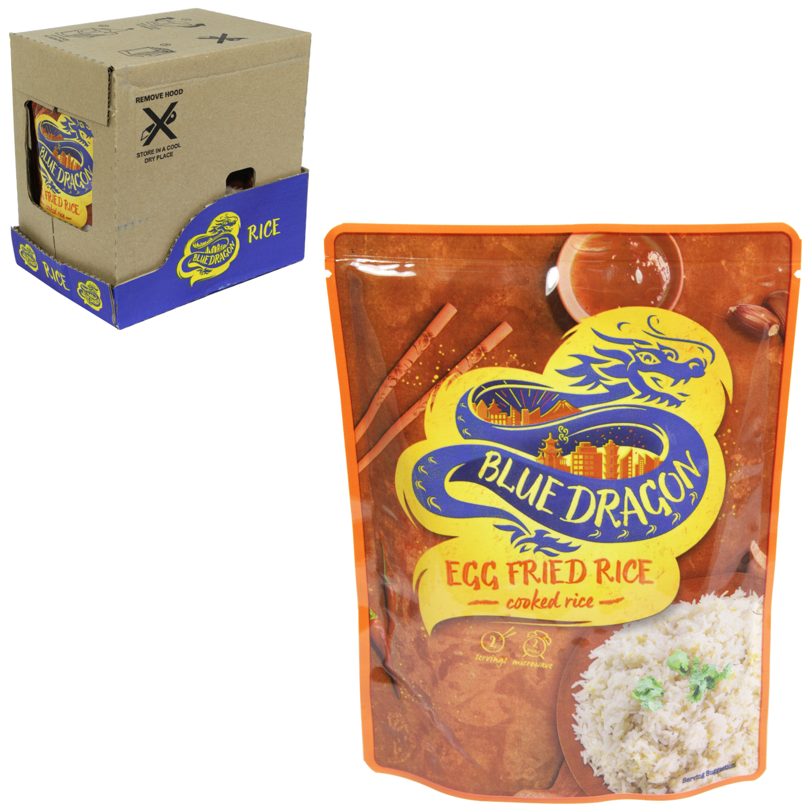 BLUE DRAGON MICROWAVE EGG FRIED RICE X6