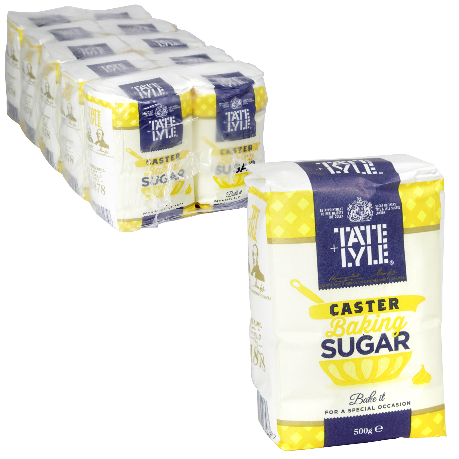 TATE & LYLE CASTER SUGAR 500GM X10