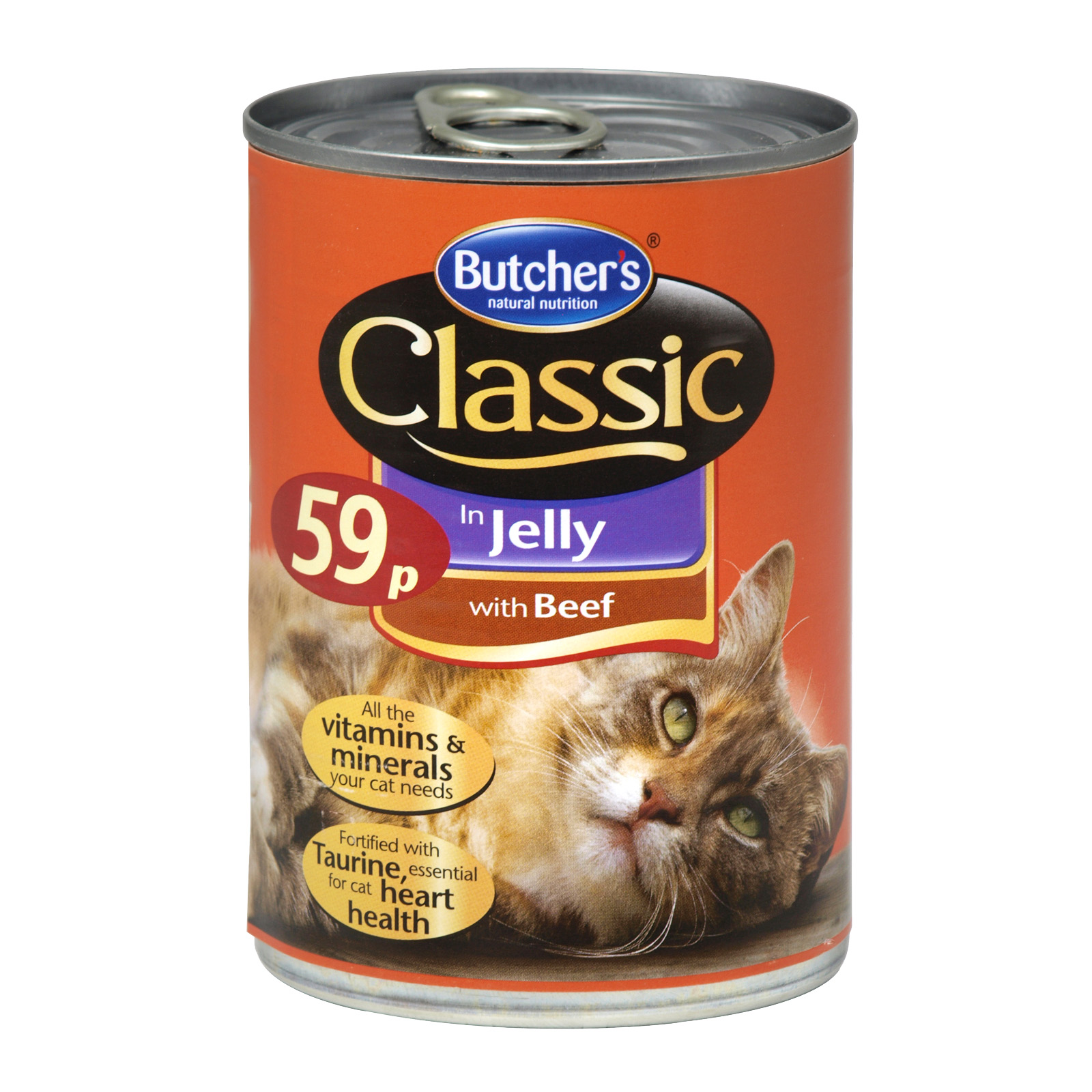 BUTCHERS CLASSIC BEEF CAT FOOD 400GM 59P X12
